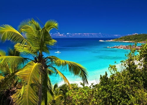 La Digue, beach
