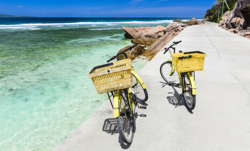Bikes on La Digue