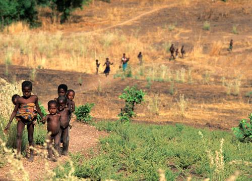 Kids in West Africa