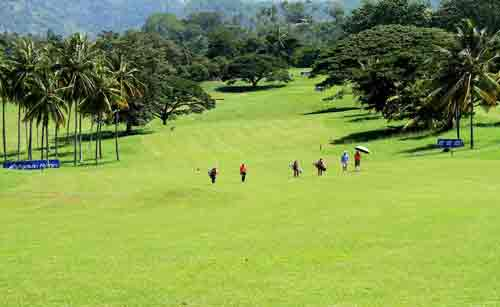 On the fairway at the Victoria Golf Course. Pic Sulochana Gamage