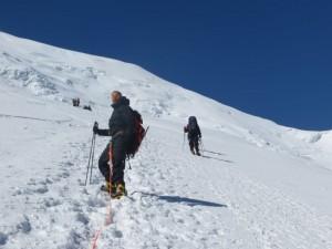 Climbing up to Camp 3, Peak Lenin