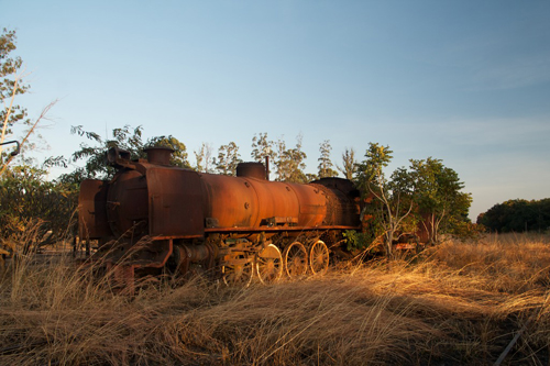 Abandoned train in the DRC