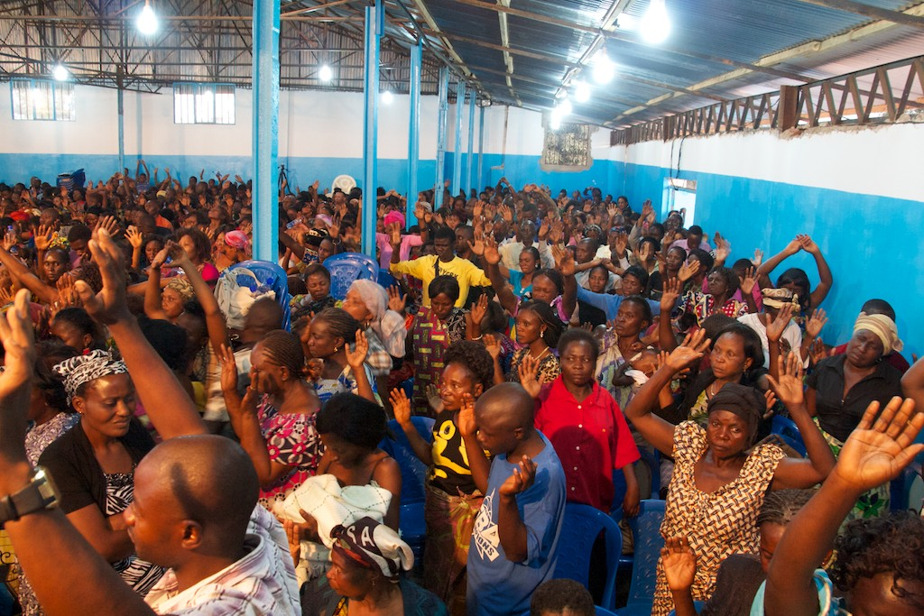 Church service, Lubumbashi, DRC
