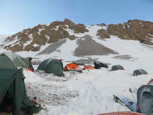 Camp 2, 5400m, Peak Lenin