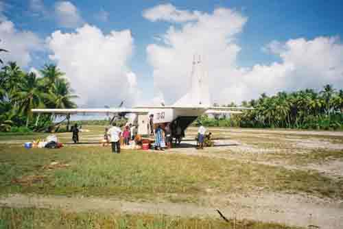 Plane, Kiribati, central tropical Pacific