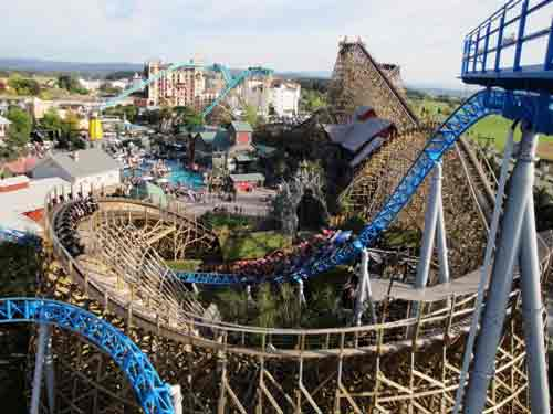 Europa Park rollercoaster, Germany