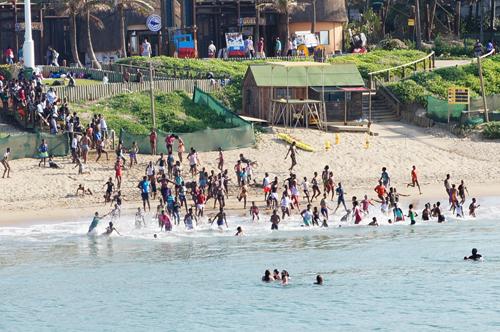 Piling into the sea, KwaZulu-Natal