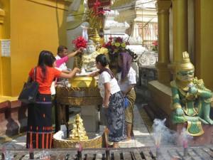 Pagoda scene, Myanmar