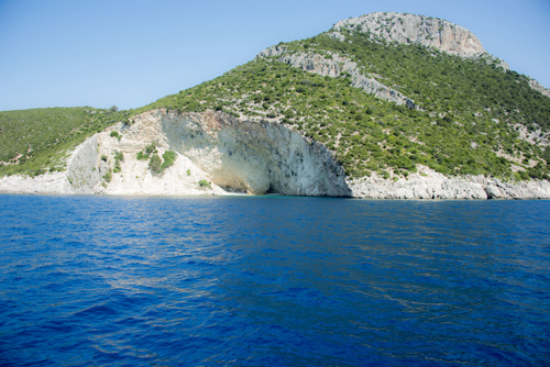 Greek Island from a boat
