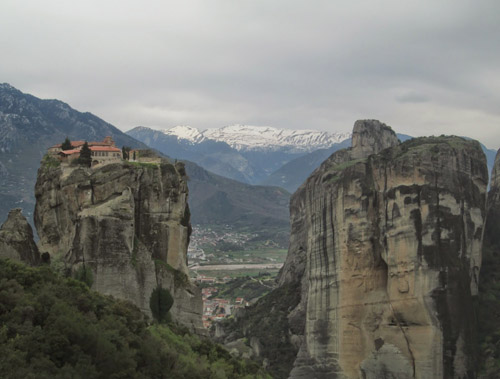 The clifftop monasteries of Meteora