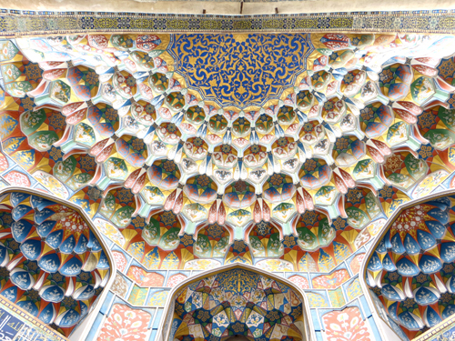 Decorated ceiling, Uzbekistan