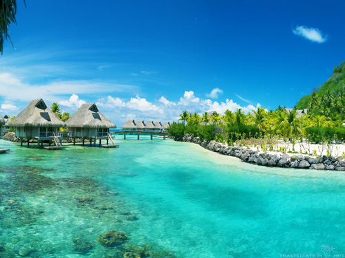 Bora Bora looking beautiful