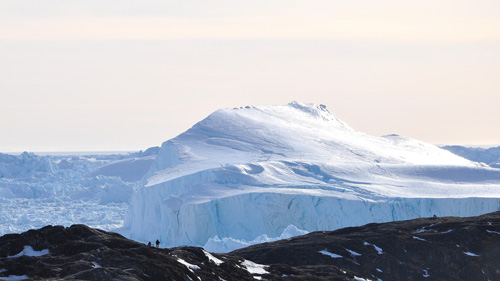 Ice and snow in Greenland