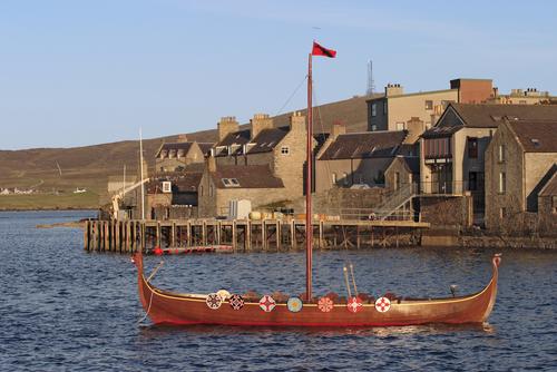 Viking boat Lerwick