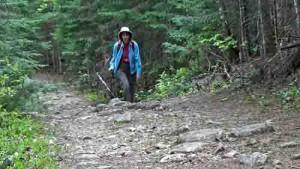 On the trail, Mt Carleton, Canada