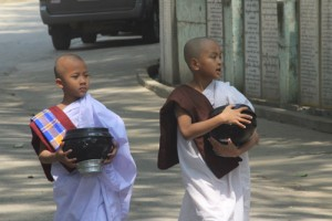 Young monks, Yangon