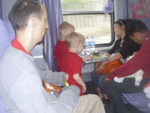 Train travel, China