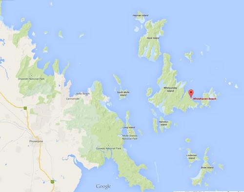 Whitsunday Islands Map Photo Credit: Google Maps