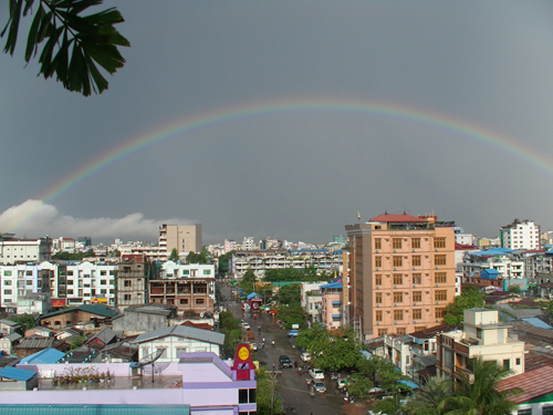 Rainbow over Mandalay