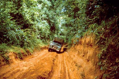 Main road through Zaire