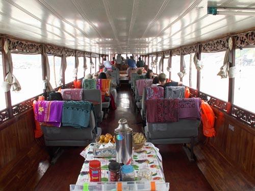 Laos boat meal