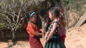 Young girls, Laos