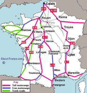 France route map