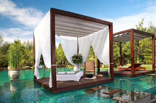 Sarojin spa treatment pool pavilion