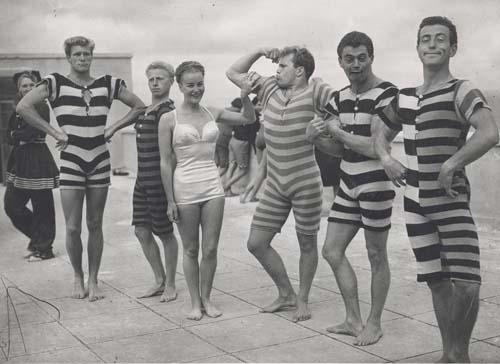 1940's male swimwear