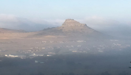 the view from Isandlwana Lodge