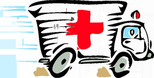 Cartoon ambulance