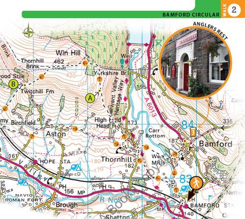 os map of Bamford Circular walk