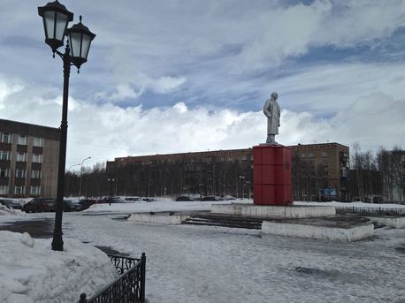Stalin in Inta, northern Russia