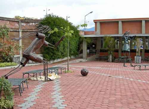 School sculpture, Ecuador